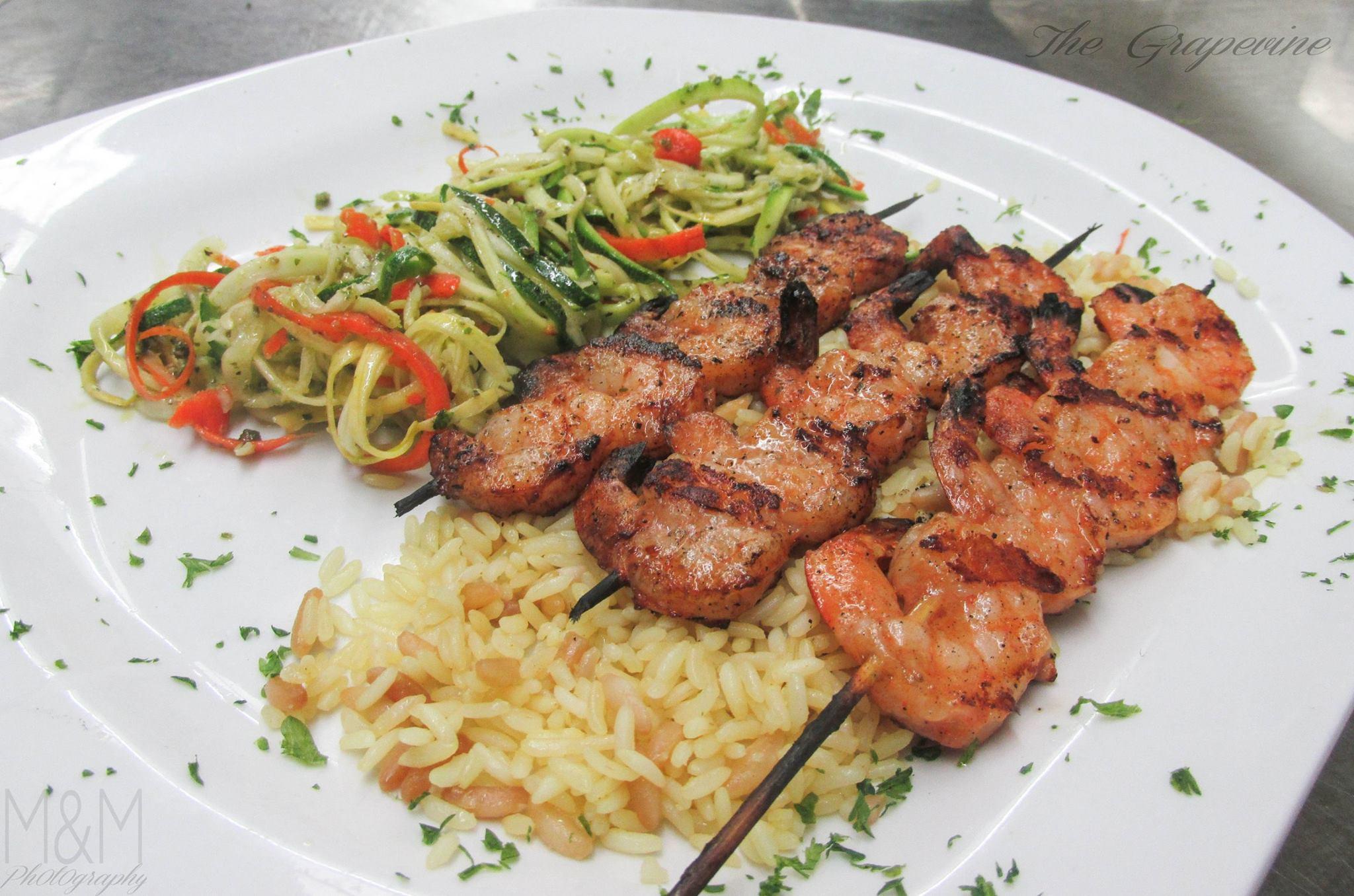 Grilled Shrimp Scampi - Grapevine Restaurant